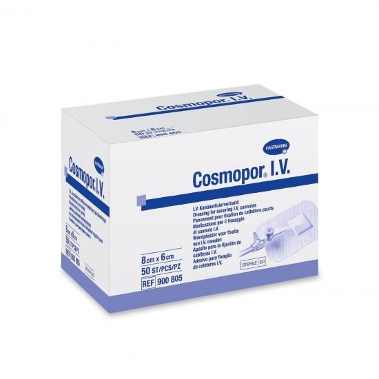 HARTMANN Cosmopor I.V. самозалепваща стерилна I.V. превръзка 8cm x 6cm 50 бр
