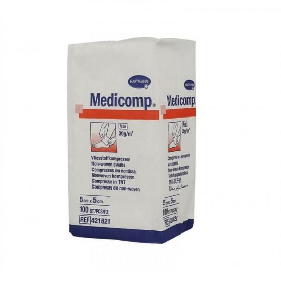 HARTMANN Medicomp  Нестерилни компреси 4 дипли 5cm x 5cm 100 бр