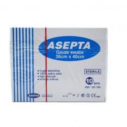 ASEPTA стерилни марлени компреси 36cm x 40cm 12 бр