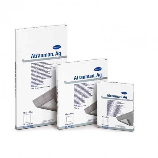 HARTMANN Atrauman Ag Тюлена мазева превръзка импрегнирана с метално сребро, с антибактериално действие 7.5cm x 10cm 10 бр