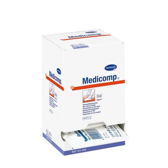 HARTMANN Medicomp cтерилни компреси , опаковани 4 дипли 5cm x 5cm 25x2 бр