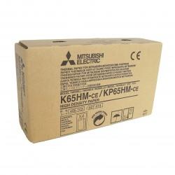 MITSUBISHI K65HM-CE / KP65HM-CE HD принтерна хартия A6 110mm x 21m 4 броя / кутия