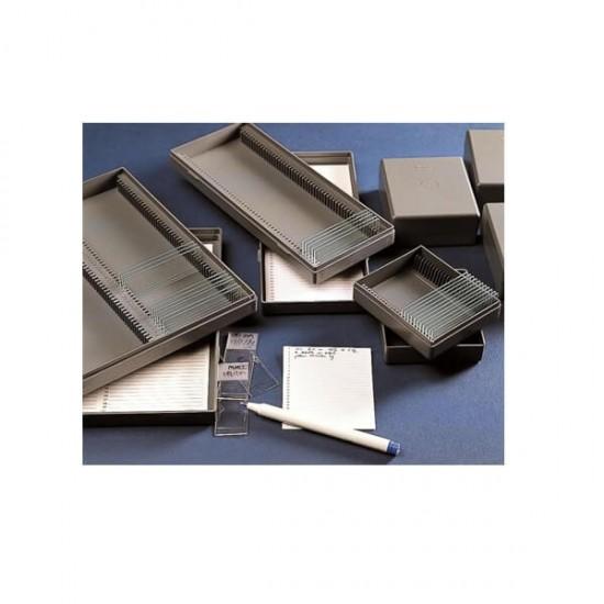 KARTELL Архиваторна Кутия За Предметни Стъкла 50 слота, 230 x 97 x 35mm