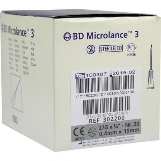 "BD Microlance 3 Игли 27G x 3/4"" - 0.45x19mm 100бр"