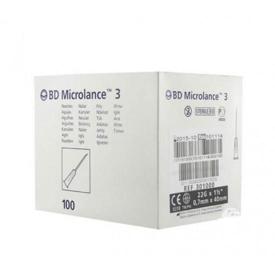 "BD Microlance 3 Игли 22G x 1 1/2"" – 0.7x40mm 100бр"