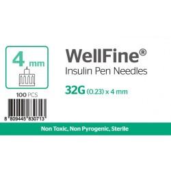 MedExel WellFine Insuline Pen needles 32G (0.23)x4mm 100 pcs