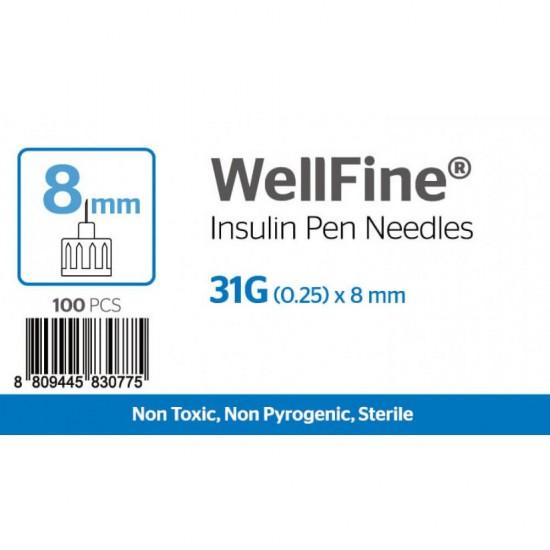 MedExel  Well-Fine инсулинови игли  31G (0.25)x8mm  100 бр.