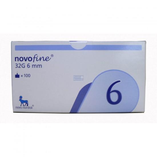 NOVO NORDISK NovoFine Стерилни игли за инсулинова писалка 32G  x 6mm 100бр