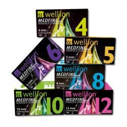 MedTrust WELLION Medfine Plus Игли за инсулинови писалки  6mm / 0,25mm (31G) 100 броя
