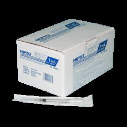 NIPRO Стерилни спринцовки с игли 1 ml 27G 100 броя