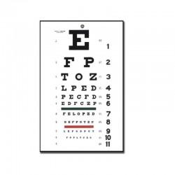 GIMA Snellen Табло За Изследване На Зрението  -6 m - 28x56cm