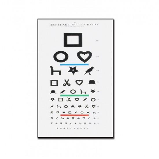 GIMA Ewing Табло За Изследване На Зрението - 6 m - 28x56cm