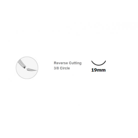 Medipac  нерезорбируем полиамиден конец  4/0 19mm 3/8 кръгла игла 1 бр
