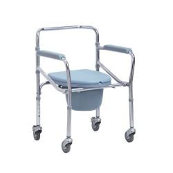 MOBIAKCARE Сгъваема тоалетна седалка с колела