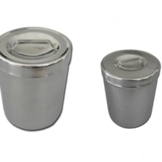 OEM Кутии гръгли с капак от неръждаема стомана AISI 304 Ø 102 x 65 mm – 0.5 l
