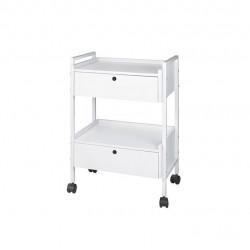 WEELKO Easy Plus Бяла метална маса със скрин