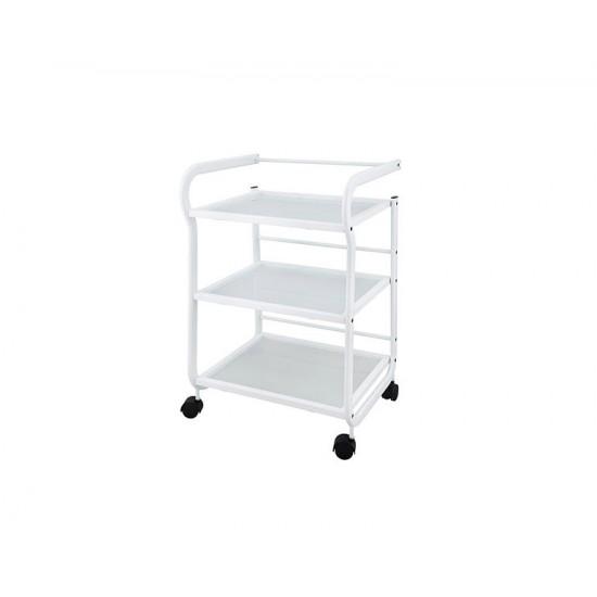 WEELKO Help Бяла метална маса с 3 рафта