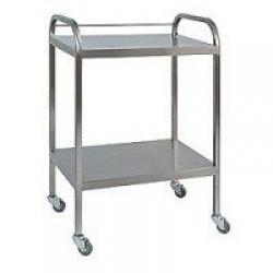 OEM INOX 304 Medicine Trolley 2  shelves