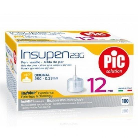 PIC Insupen Стерилизирани инсулинови игли 29G x 12mm 100 броя
