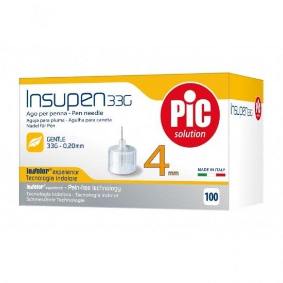 PIC Insupen Стерилизирани инсулинови игли 33G x 4mm 100 броя