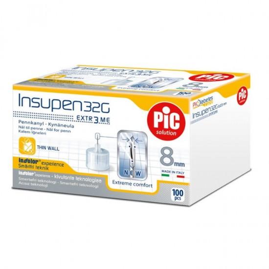 PIC Insupen Стерилизирани инсулинови игли 32G x 8mm 100 броя
