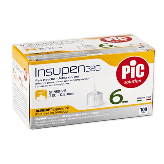 PIC Insupen Стерилизирани инсулинови игли 32G x 6mm 100 броя