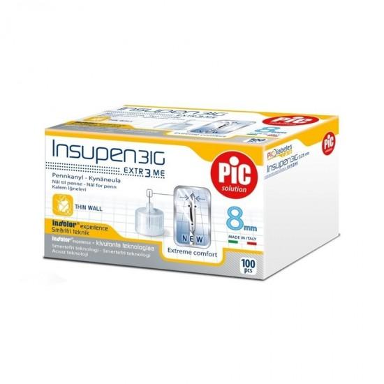 PIC Insupen Стерилизирани инсулинови игли 31G x 8mm 100 броя